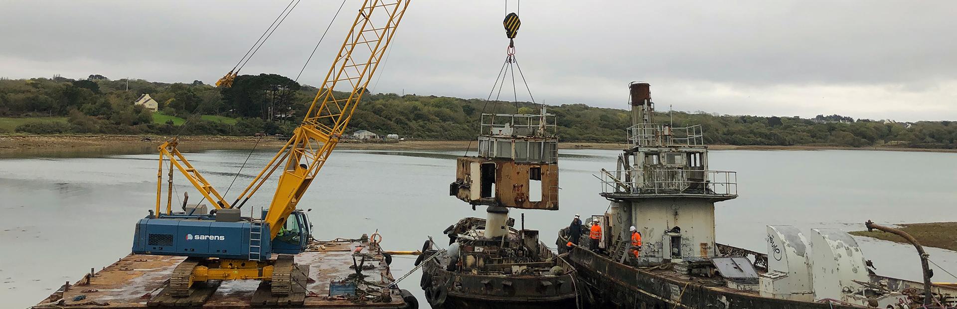 Déconstruction navale, dépollution en Bretagne, Finistère